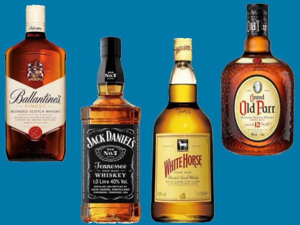 Os Melhores e Mais Famosos Whiskys (Johnnie Walker, Jack Daniels,etc)